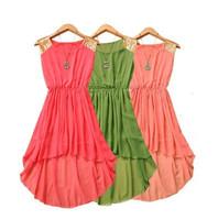 2014 Summer fashion women irregular chiffon dress, 11 color plus size S -- XXL paillette vest one-piece dress,summer sexy dress