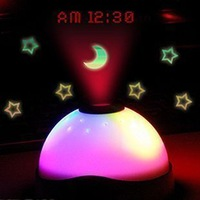 Colorful projection alarm clock projection clock