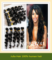 Free shipping Loose Wave 5A Unprocessed Julia queen hair 2pcs Lot  Malaysia Virgin Hair Extensions Natural Color