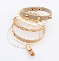European and American fashion rivet punk multilayer bracelet+Free shipping#105187#D81