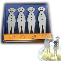 Smiley stainless steel fruit fork 4