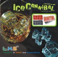 Skull ice cube tray ice mould ice box