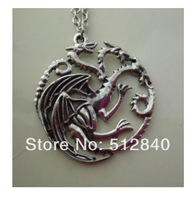 NEW! GAME OF THRONES ~ double sided Targaryen Sigil Dragon PENDANT / NECKLACE
