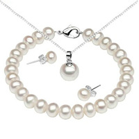 Freshwater Pearl Woman's Jewelry  Set  wedding jewelry Gift