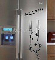 Free Shipping Removable Cartoon Cat Refrigerator Cabinet Wall Sticker Art Vinyl Decal 4007-304