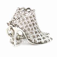 M86113 Creative Fashion Refinement Lady Gift Hollow High-heeled Shoe Shoes Keychain Keyring Key Chain Ring Keyfob
