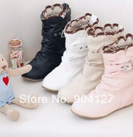 2014 Autumn Sweet Princess Cutout Crochet Flat Boots Plus Size EU 34-43 Drop Shipping