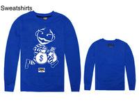 New Long Sleeve Men's Fashion 4 colors Cartoon Printed Loose style  hip hop rap CREWNECK Sweater Sweatshirt