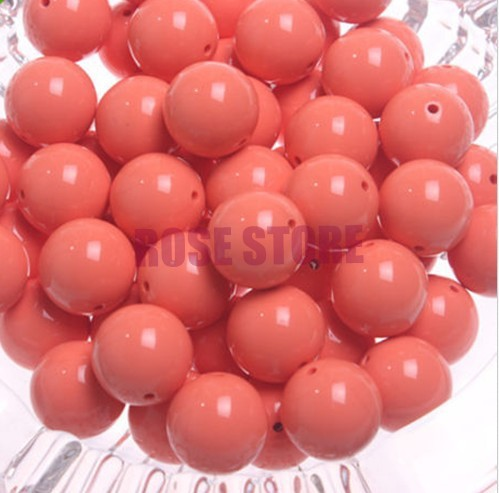 240pcs/lot Rose Pink Solid Color GUMBALL Chunky 12MM Big Chunky Bubblegum Acrylic Solid Beads ,Colorful Chunky Beads Jewelry(China (Mainland))