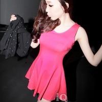 New 2014 women casual chiffon mini dress Fashion sexy summer dresses for women hot sale sexy dress club wear