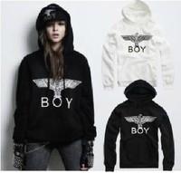 East Knitting AA-046 2013 Fashion Women/Men  Cotton Tops Bigbang London Boy Eagle Long Sleeve Hoodies Outwear Plus Size