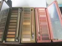wholesale 3pcs/lot 2014 New Arrival Nake 1 2 3 Palette 12 Colors Pigment Glitter Eyeshadow EYE SHADOW palettes blush makeup