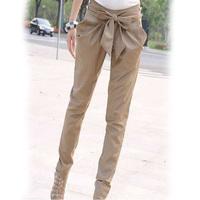 OVO!new 2014  sexy Women clothing Han edition fashion leisure joker bowknot haroun pure color pants F.KZ.W.022