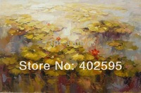 Free shipping 1 panel still life huge size ponds abstract oil painting on canvas modern art 100% handmade  home decor YTM025