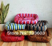 Stripe/Zebra-stripe Cute Candy Colored Seasons Soft Pet Mats Dog Cotton Nest Teddy Autumn Winter House Kennel Bed Sofa, S/M/L/XL
