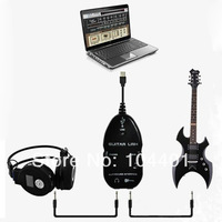 1 pc USB Guitar to PC/MAC Interface Cable Link Audio VOCAL Recording White Black