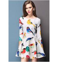 OASAP 3/4 Sleeve Bird Dress