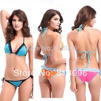 2014 Fashion 3 Colors Sexy Bikini With Cup Swimwear Two Piece Swimsuit Bikini Set Top Bottom Push Up Bikini M XL