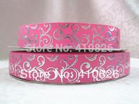 WM ribbon 7/8inch 22mm 14328004 silver foil grosgrain ribbon 50yds/roll free shipping
