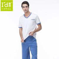 2014 Color Blocking Causal Men Pajamas Summer Short Sleeves Tops and Shorts Pijamas Mens Cotton Modal Sleepwear Home Clothes
