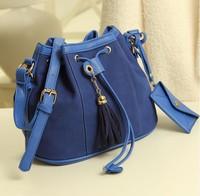 New 2014 women leather handbags retro casual bags bags draw string  women handbag shoulder women messenger bags #302b