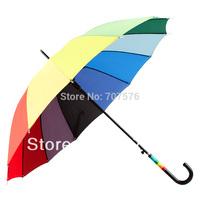 Fas3pcs/lot +low freight hion umbrella long-handled automatic rainbow umbrella sun-shading sunscreen sun umbrella 1933