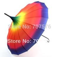 Rainbow umbrella pagoda umbrella personalized long-handled umbrella vintage royal princess umbrella