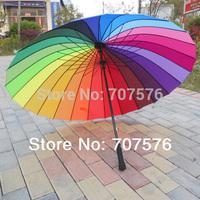 24 rainbow princess umbrella ultralarge long-handled sun protection umbrella sun umbrella