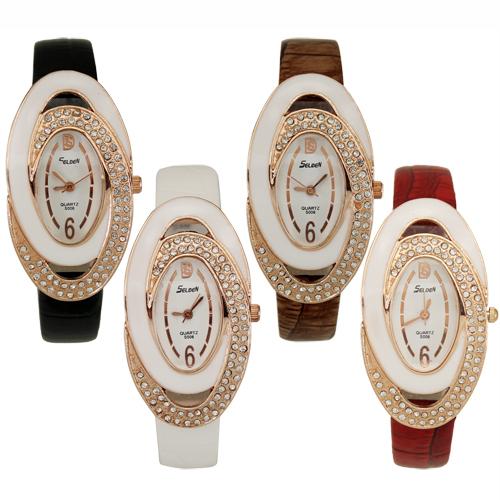 1 PC New Fashion Luxurious Women s Lady Crystal Jewelry Diamonate Christmas Gift Analog Quartz Wrist