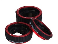 CoolYu Red Metal Mount Auto Focus AF Macro Extension Ring Tube for CANON EF-S Lens