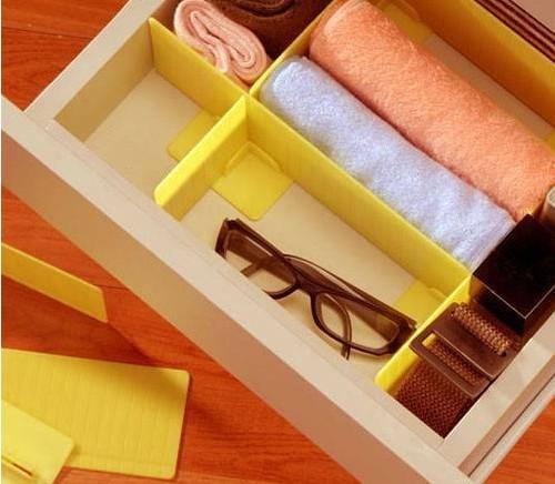 NC - DIY Drawer Divider for Socks, Underwear, Kitchen Tools Makeup Organizer Storage Boxes Tidy Plate drawer organizer 7pcs/set(China (Mainland))
