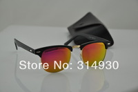 Wholesale , Men's sunglasses, women sunglasses , retro sunglasses, colored glass lenses , selling high-quality 48mm lens