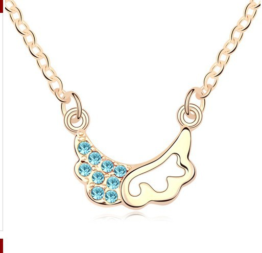 Free shipping Fashion and Retro Crystal Necklace Trainee Cupid