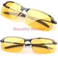 New Men's Polarized Sunglasses Yellow Lens Night Vision Driving Glasses Goggles Reduce Glare 19865 3F