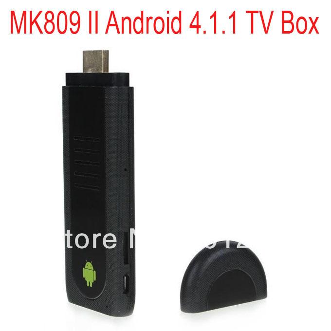 2pcs/lot High Quality Dual Core MK809 II Android 4.1.1 Mini PC TV BOX Dongle RK3066 1.6GHz 1G/8G Free Shipping(China (Mainland))