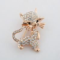 Fashion mini smiley cat brooch cravat exquisite gift  brooch