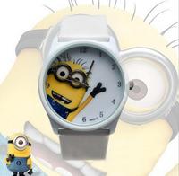 2014 Despicable Me leather strap children cartoon watches relogio kids boy alloy cute quartz clock for boy & girls gift relojes