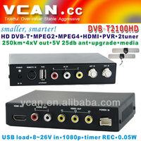 2014 Popular smaller smarter design dvb-t MPEG4, H.264, Digital TV Receiver Dual Tuner