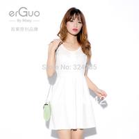 white price Female slim hip dress  autumn and winter one-piece dress puff  dress thick 2013