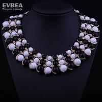 beaded jewelry necklace statement choker chunky crystal necklace women choker statement  acrylic statement bib necklaces choker