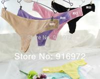 Hot sale  women seamless   G-strings  women colorful Panties  11.4$ /5pcs Free shipping