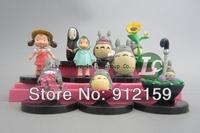 9pcs/ Set Hayao Miyazaki Cute Totoro My Neighbor Totoro Tonari no Totoro Figure Toys Dolls Models Decoration