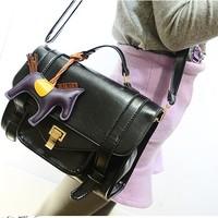 Bag spring fashion lockbutton 2014 women's handbag shoulder bag vintage messenger bag bag