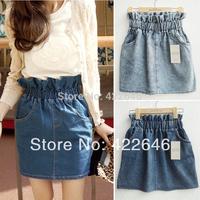 2014 new Fashion Woman denim skirt Princess dress Short Skirts Women skirt