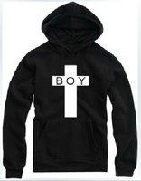 East Knitting Free Shipping FH-137 Women/Men Cross London BOY Loose Long Sleeve Hoodies Plus Size Winter Thicken