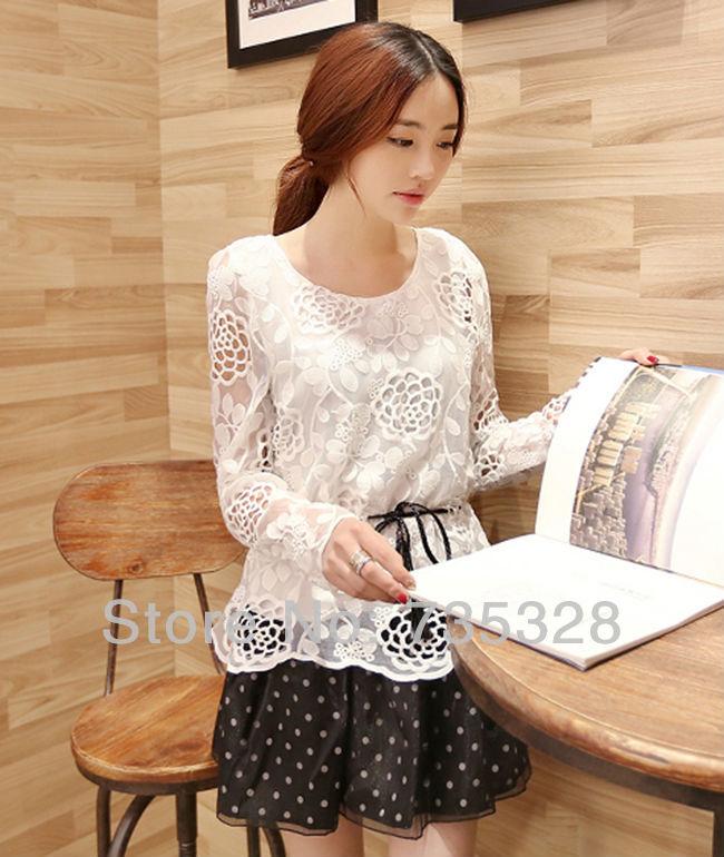 2014 new hot sale Korean Women Summer New Fashion Chiffon Dress Dots Polka dress(China (Mainland))