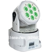 New 7x15W 5in1 RGBAW Color Mixing Led Moving Head Light,Hi-Quality Led Stage Light White Case,DMX 512 control,Sound Activated