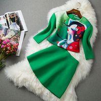 Spring head portrait little girl top bust skirt casual sports set female