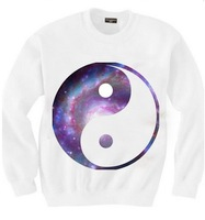 East Knitting SW-111 women's WHITE sweatshirts Game Over printed hoodies white pullovers 2014 New free shipping