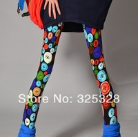 The new 2014 printed leggings graffiti color candy color leggings